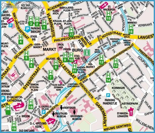Bruges Metro Map TravelsFindersCom