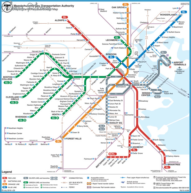 Cambridge Subway Map - Travel - Map - Vacations - TravelsFinders.Com