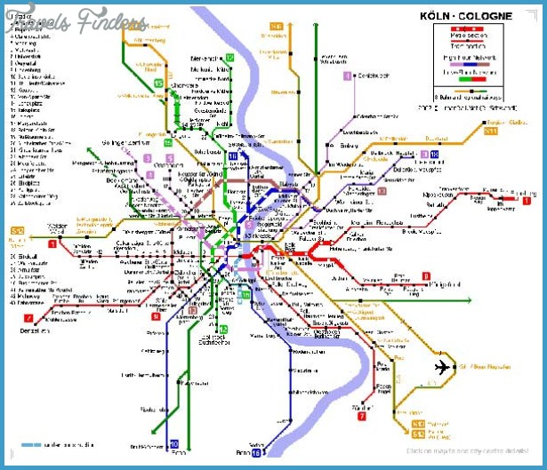Cologne Metro Map TravelsFindersCom