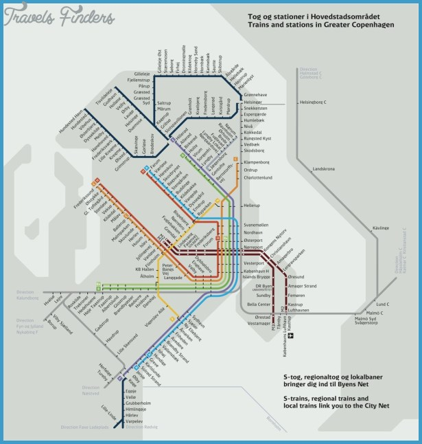 Copenhagen Subway Map TravelsFindersCom