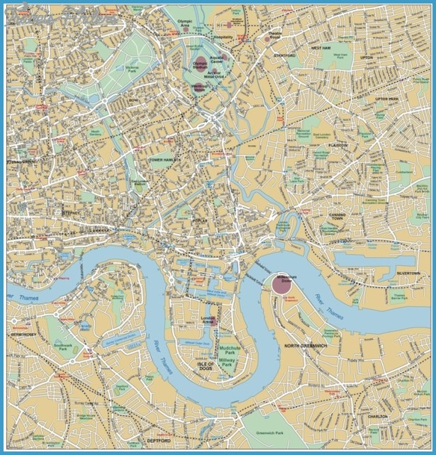 EAST LONDON MAP Travel Map Vacations – Map of East London