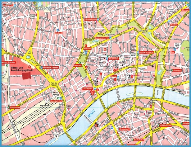 Frankfurt Map TravelsFindersCom
