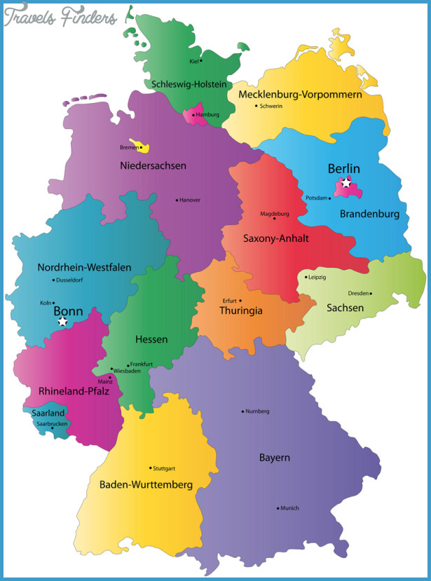 Tourist Map Of Germany.German Map Tourist Attractions Travelsfinders Com