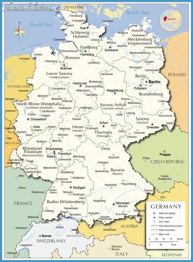 Map Of Germany Erlangen.German Map Travelsfinders Com