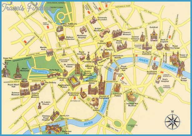 Tourist Map Glasgow Glasgow Map Tourist Attractions   TravelsFinders.®