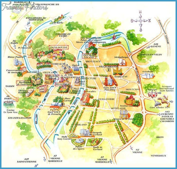 Lyon Map Travelsfinders Com
