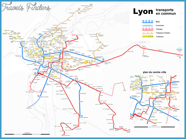 lyon subway map travelsfinders com. Black Bedroom Furniture Sets. Home Design Ideas