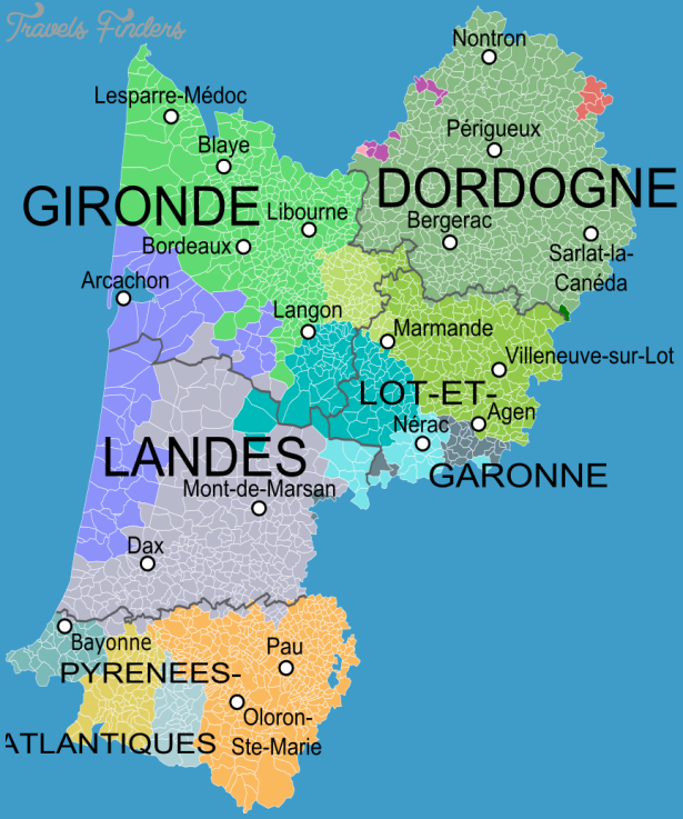 PERIGORD AND AQUITAINE MAP TravelsFindersCom