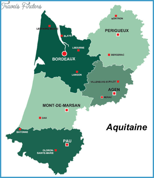 Perigord and aquitaine map travelsfinders com for Aquitaine france cuisine