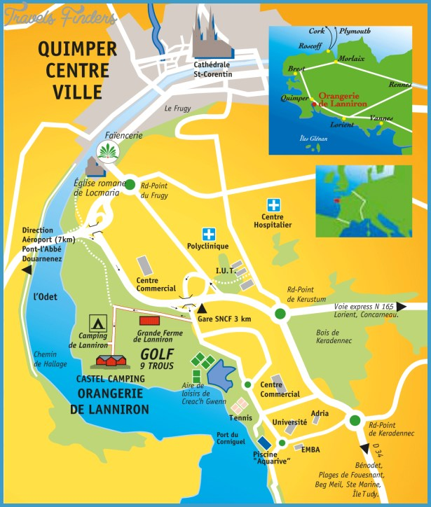 quimper map 10 QUIMPER MAP