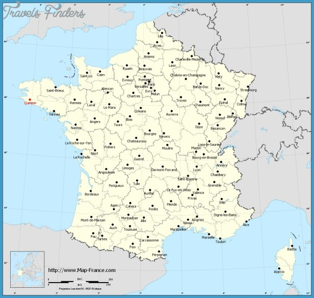 QUIMPER MAP TravelsFindersCom