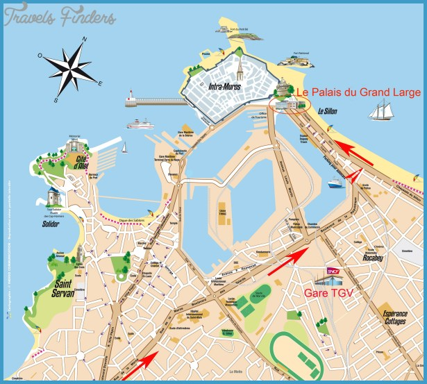 ST-MALO MAP - TravelsFinders.Com ®