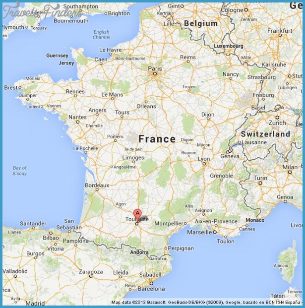 TOULOUSE MAP TravelsFindersCom