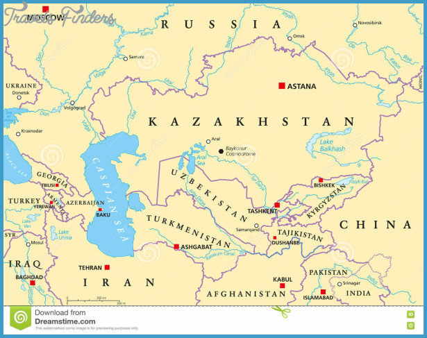 Central Asia Map TravelsFindersCom - China political map in english