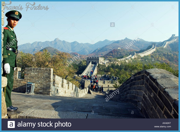 China, Beijing, The Great Wall Of China At Badaling Near Beijing ...