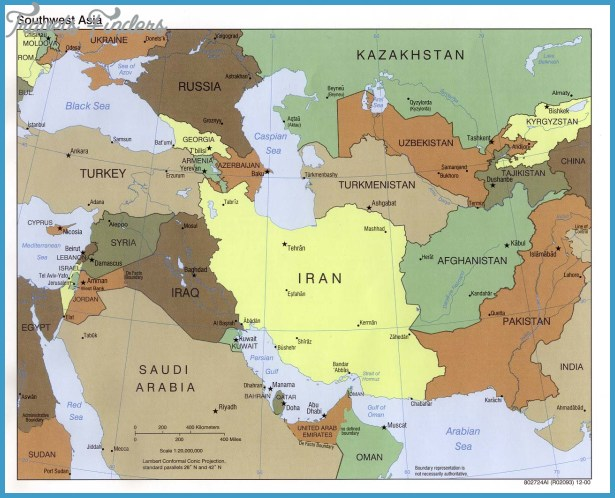 Central Asia Map TravelsFindersCom - Central asia political map
