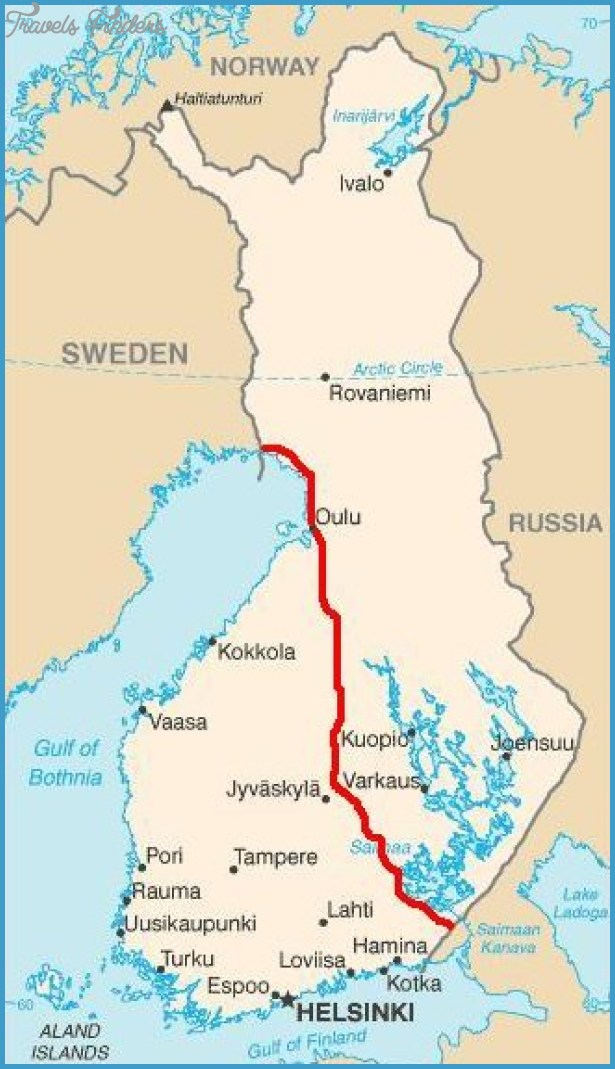 Finnish Lake Plateau Map TravelsFindersCom