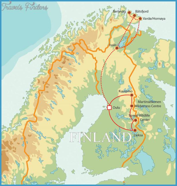 Finnish Lake Plateau Map TravelsFindersCom