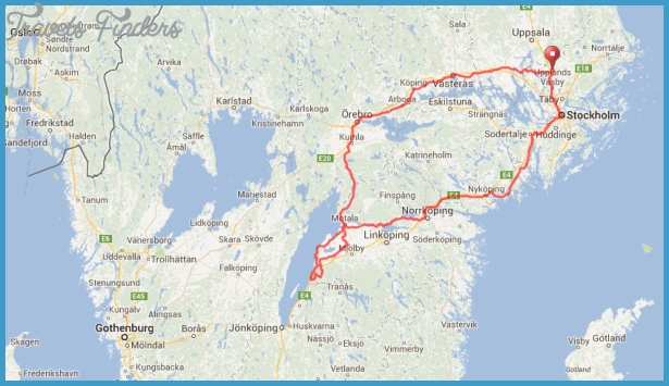 Gota Canal Sweden Map Travel Map Vacations TravelsFindersCom - Sweden map jönköping