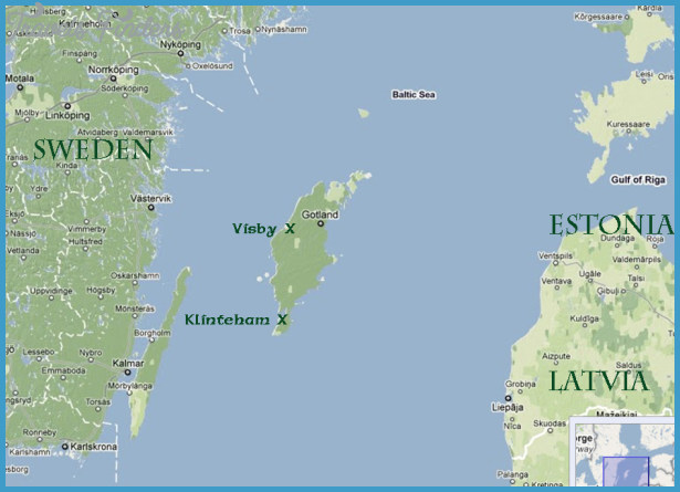 Gotland Sweden Map Travel Map Vacations TravelsFindersCom - Sweden map jpg