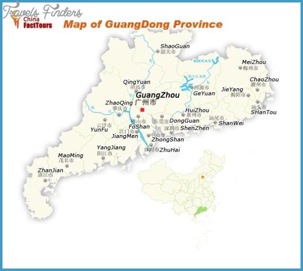 Guangdong Map TravelsFindersCom - Zhaoqing map