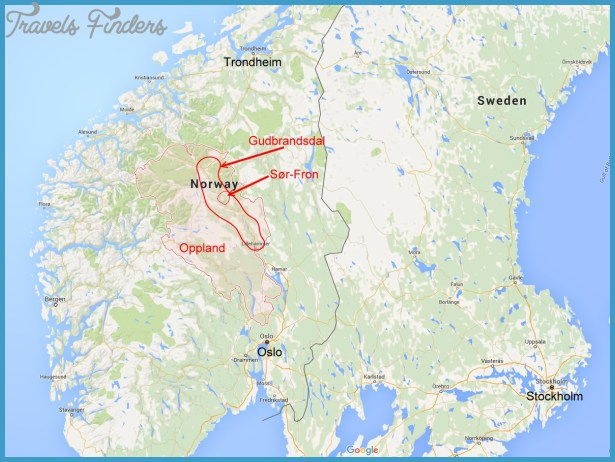 Gudbrandsdal Norway Map Travel Map Vacations - Norway map fylke