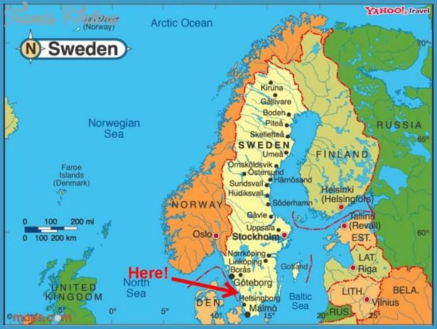 Halmstad Sweden Map Travel Map Vacations TravelsFindersCom - Sweden map images