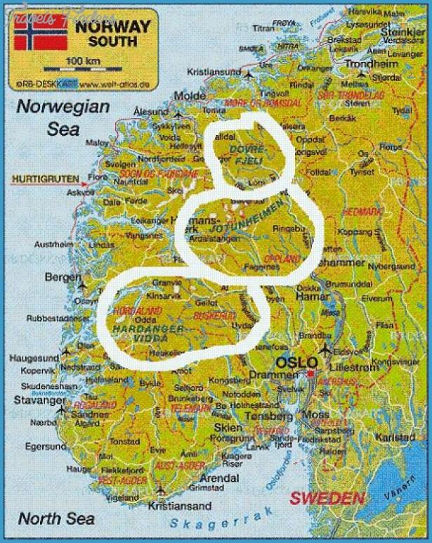 Hardangervidda Norway Map Travel Map Vacations - Norway map jpg