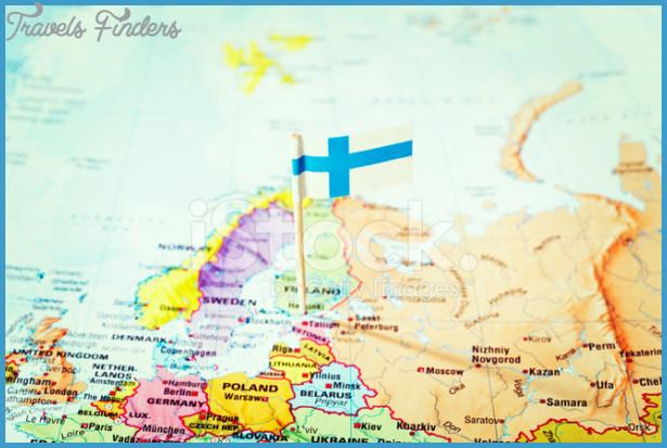 Helsinki Helsingfors Finland Map Travelsfinders Com