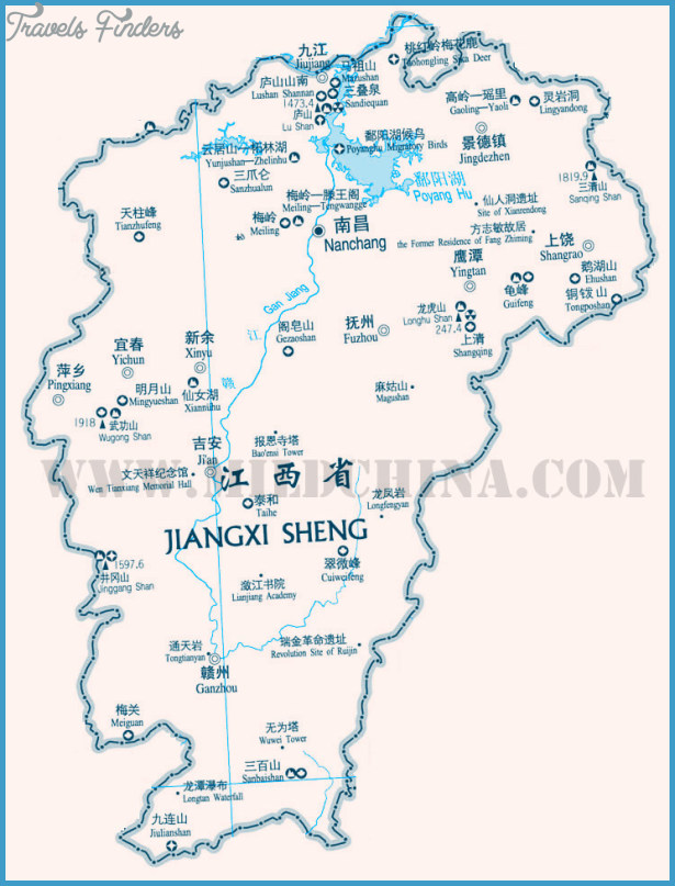 Jiangxi Map TravelsFindersCom - Jingdezhen map