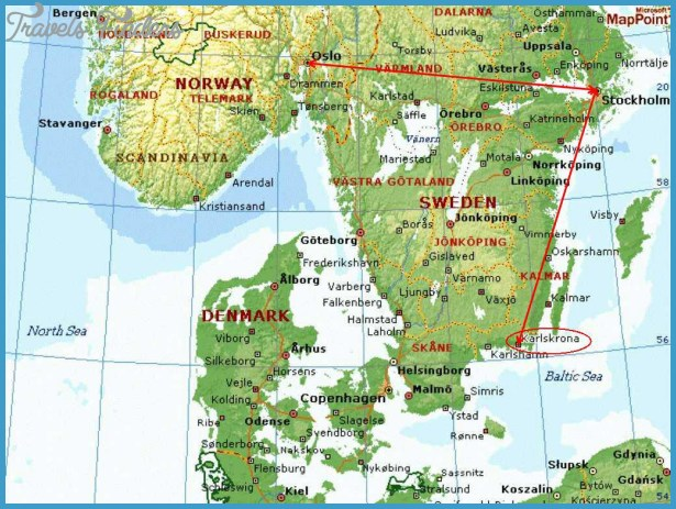 Karlskrona Sweden Map Travel Map Vacations TravelsFindersCom - Varberg sweden map
