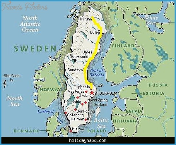 Best Nature Places In Sweden Map