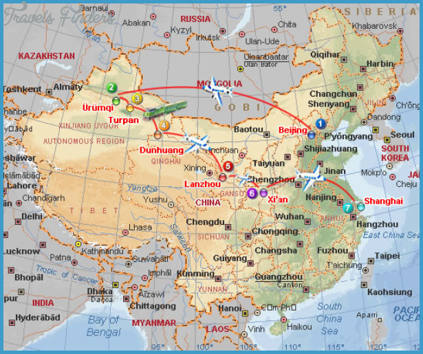 Lanzhou Map Travelsfinders Com