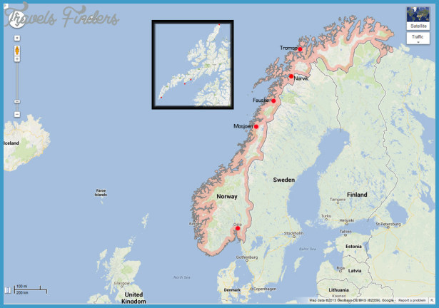 Lofoten Islands Norway Map Travel Map Vacations - Norway valdres map