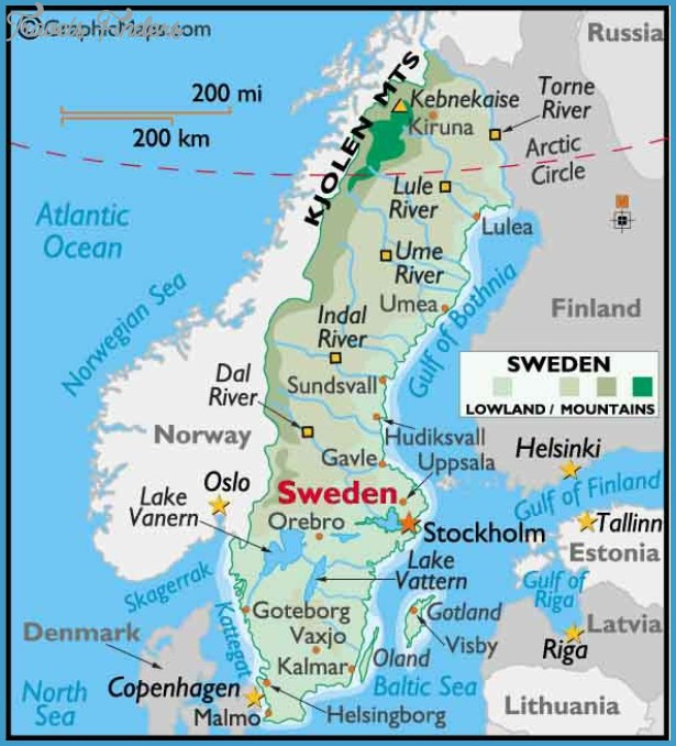 Orebro Sweden Map Travel Map Vacations TravelsFindersCom - Sweden map mountains