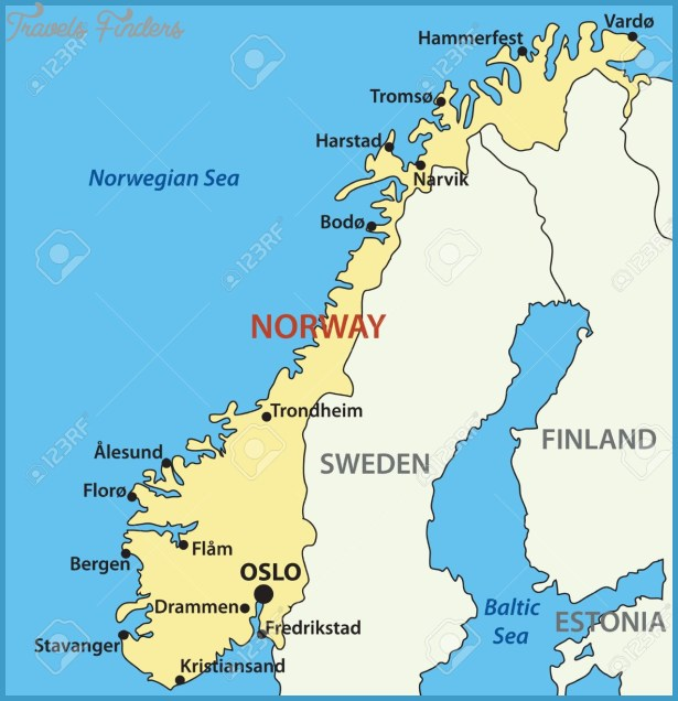 Oslofjord Norway Map Travel Map Vacations TravelsFindersCom - Norway map of europe