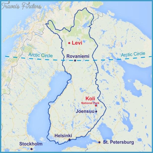 Rovaniemi Finland Map Travelsfinders Com