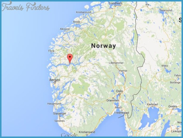 Sognefjord Norway Map Travel Map Vacations TravelsFindersCom - Norway map kristiansund