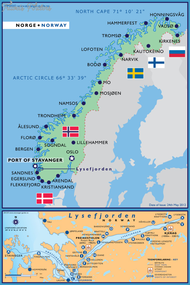 Stavanger Norway Map Travel Map Vacations TravelsFindersCom - Norway map stavanger