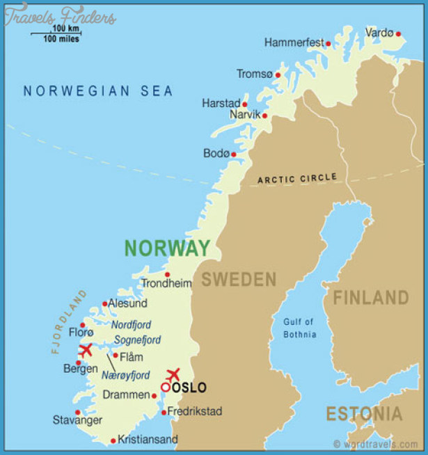 Tromso Norway Map Travel Map Vacations TravelsFindersCom - Norway map hammerfest