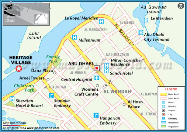 Abu Dhabi Map | TravelsFinders.Com ®