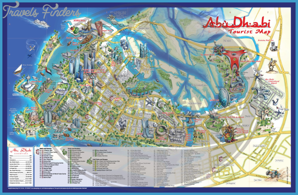Abu Dhabi Map Travelsfinders Com