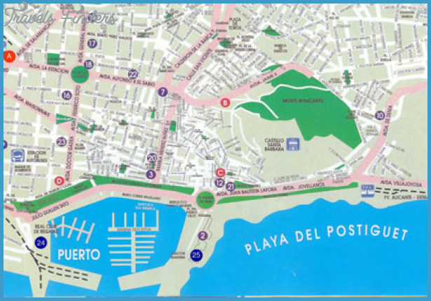 street map of alicante spain Archives TravelsFindersCom