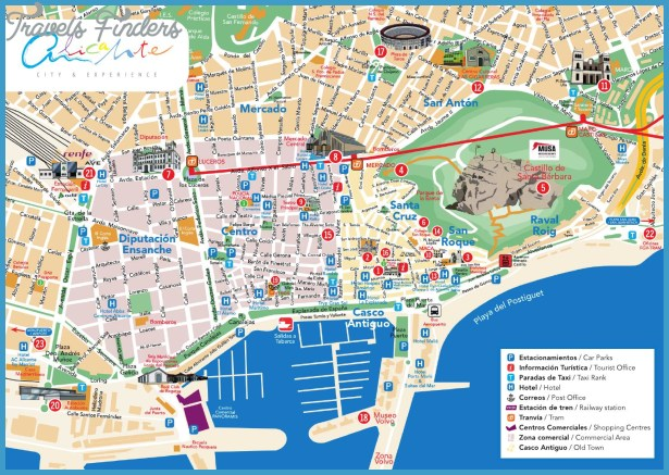 Map Of Spain Alicante Area.Alicante Map Travelsfinders Com