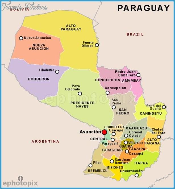 Capiata Map Tourist Attractions TravelsFindersCom - Where is asuncion