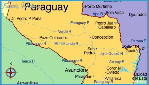 Chaco Map Paraguay TravelsFindersCom - Map of paraguay
