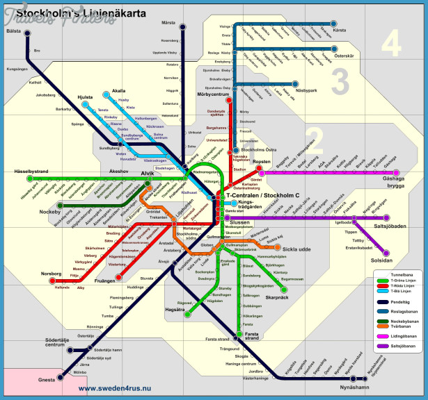Stockholm Map TravelsFindersCom