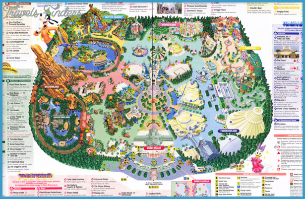 Disney Park Maps Disney Park Map   TravelsFinders.®