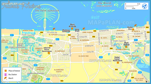 Dubai Map - TravelsFinders.Com ® on