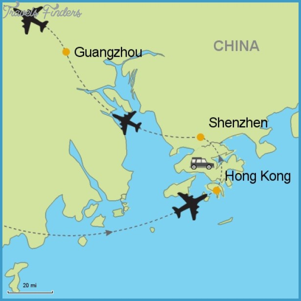 Map Of Shenzhen And Hong Kong Travelsfinders Com